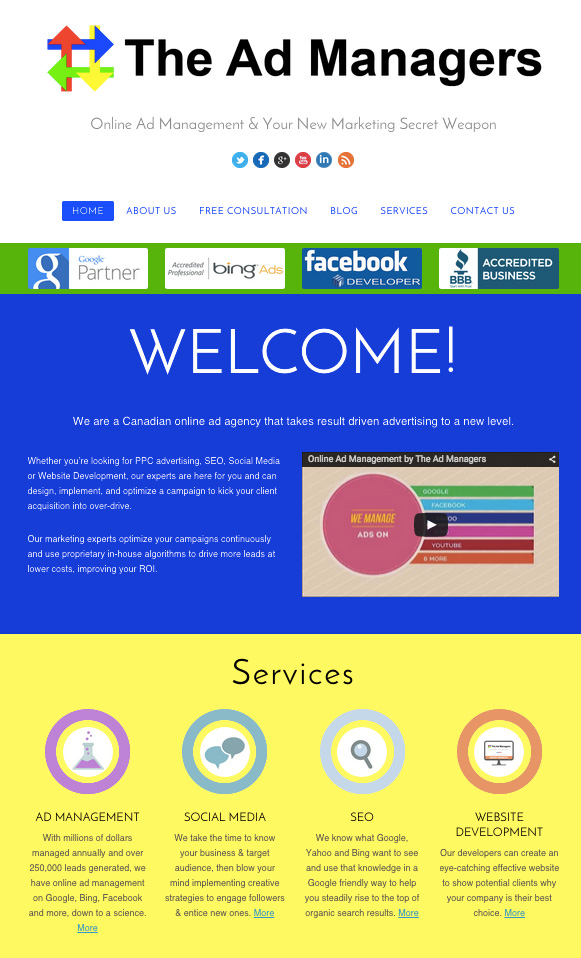 New Website design The Ad Managers