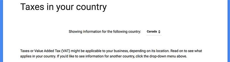Google taxes in Canada